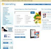 calorieking.com screenshot