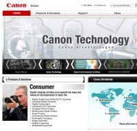 canon.com screenshot