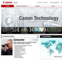 canon.com screenshot