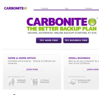 carbonite.com screenshot