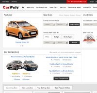 carwale.com screenshot