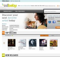 cdbaby.com screenshot