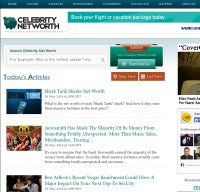 celebritynetworth.com screenshot