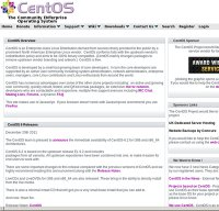 centos.org screenshot