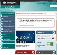 centrelink.gov.au screenshot