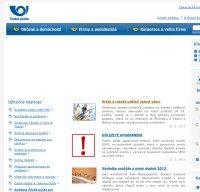 ceskaposta.cz screenshot