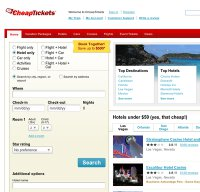 cheaptickets.com screenshot