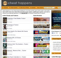 cheathappens.com screenshot