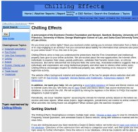 chillingeffects.org screenshot
