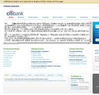 citibank.com.au screenshot