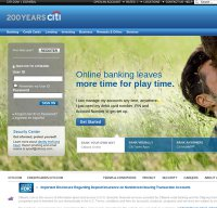 citibank.com screenshot