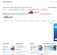 citibank.com.sg screenshot