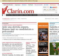 clarin.com screenshot