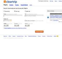 cleartrip.com screenshot