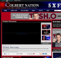 colbertnation.com screenshot
