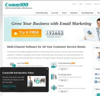 comm100.com screenshot