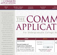 commonapp.org screenshot