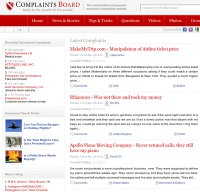 complaintsboard.com screenshot