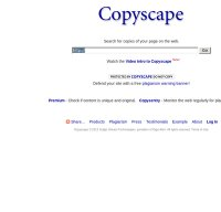 copyscape.com screenshot