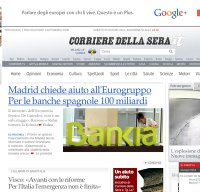 corriere.it screenshot