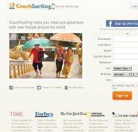 couchsurfing.org screenshot