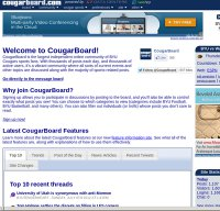 cougarboard.com screenshot