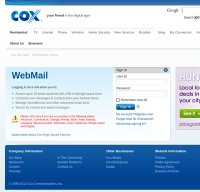 cox.net screenshot