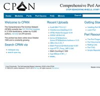 cpan.org screenshot