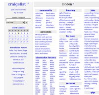 craigslist.co.uk screenshot
