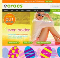 crocs.com screenshot