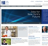 cuny.edu screenshot