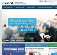 cvent.com screenshot