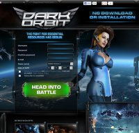 darkorbit.com screenshot