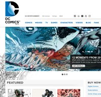 dccomics.com screenshot