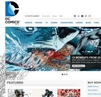 dccomics.com screenshot