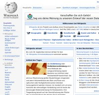 de.wikipedia.org screenshot