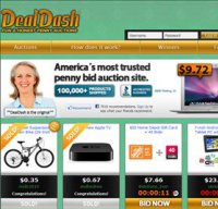 dealdash.com screenshot