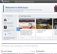 delicious.com screenshot