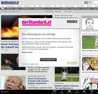 derstandard.at screenshot