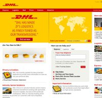dhl.com screenshot