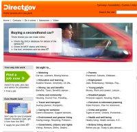 direct.gov.uk screenshot