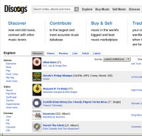 discogs.com screenshot