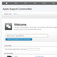 discussions.apple.com screenshot