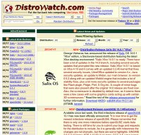 distrowatch.com screenshot