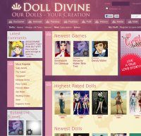 dolldivine.com screenshot