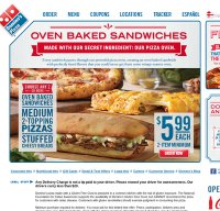 dominos.com screenshot