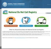donotcall.gov screenshot