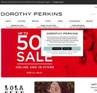 dorothyperkins.com screenshot