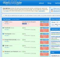 downrightnow.com screenshot