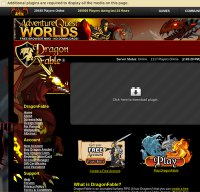 dragonfable.com screenshot